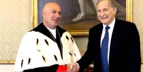 Ambassador Phillips welcomed by Rector Massimo Carpinelli